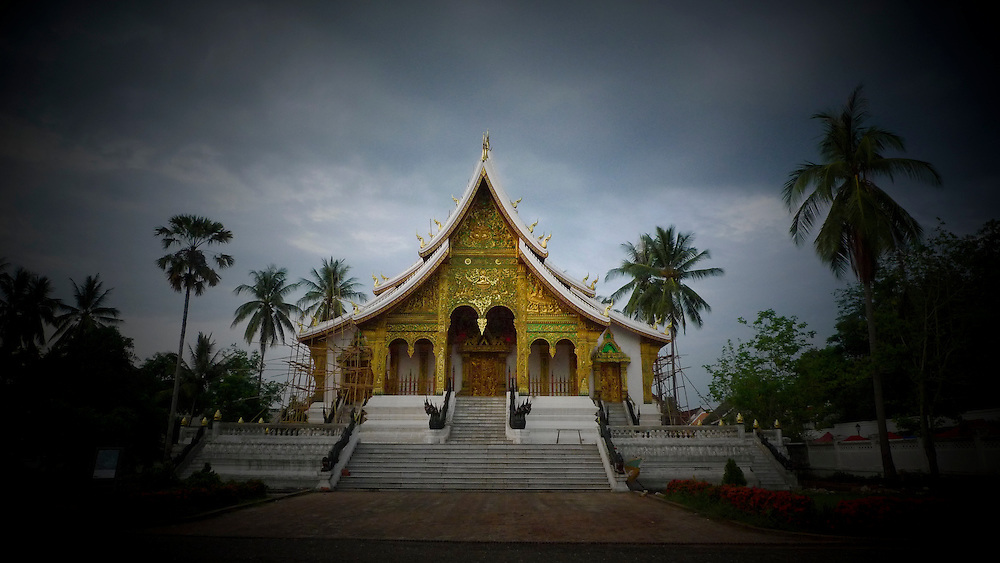 Temple in Luang Prabang . Copyright Martine Perret