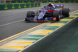 March 24, 2018 - Melbourne, Victoria, Australia - GASLY Pierre (fra), Scuderia Toro Rosso Honda STR13, action during 2018 Formula 1 championship at Melbourne, Australian Grand Prix, from March 22 To 25 - s: FIA Formula One World Championship 2018, Melbourne, Victoria : Motorsports: Formula 1 2018 Rolex  Australian Grand Prix, (Credit Image: © Hoch Zwei via ZUMA Wire)
