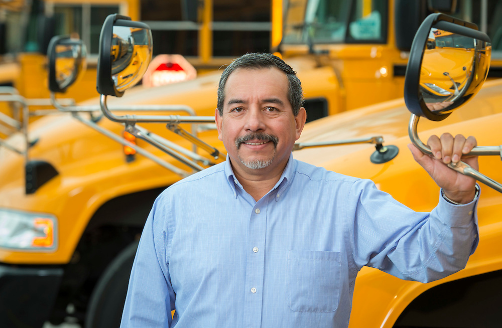 Andres Montes poses for a photograph at the Central Transportation yard, October 23, 2014.