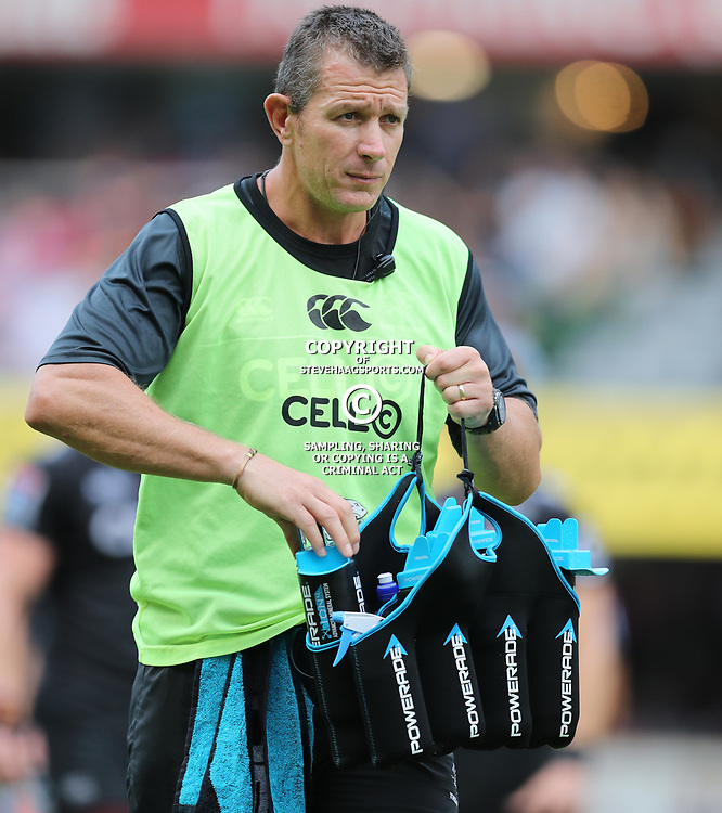 Ryan Strudwick (Assistant Coach) of the Cell C Sharks during the Super Rugby match between the Cell C Sharks and the Jaguares  April 8th 2017 - at Growthpoint Kings Park,Durban South Africa Photo by (Steve Haag)