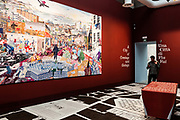 """Venezia - 16. Mostra di Architettura. Padiglioni ai Giardini. Palazzo delle Esposizioni """"Crimson Architectural Historian""""."""