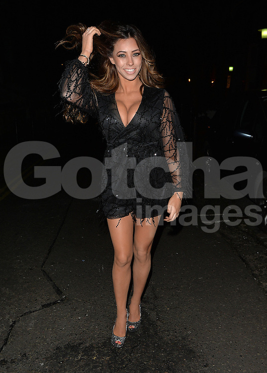 Model Pascal Craymer leaving former Stereo Kicks singer Jake Sims' record launch at Islington Hall in London, UK. 15/02/2016<br />