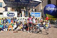 39° Giro del Trentino Melinda, 4° tappa Malè Cles, Richard Julian Porte, soprannominato Richiea destra Domenico Pozzovivo,© foto Daniele Mosna 24 Aprile 2015 © foto Daniele Mosna
