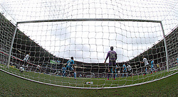 Wolves  Keeper Emilliano Martinez cant keep out Derbys fourth  goal by Johnny Russell,  Derby County v Wolves, Ipro Stadium, Sky Bet Championship, Sunday 18th October 2015 (Score Derby 4, Wolves, 1) Derby County v Wolves, Ipro Stadium, Sky Bet Championship, Sunday 18th October 2015 (Score Derby 4, Wolves, 1)