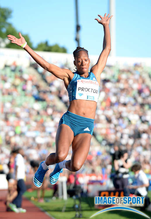 Jun 11, 2014; Oslo, NORWAY; Shara Proctor (GBR) places second in the womens long jump at 22-3 (6.78m) in the 2014  ExxonMobil Bislett Games at Bislett Stadium. Photo by Jiro Mochizuki