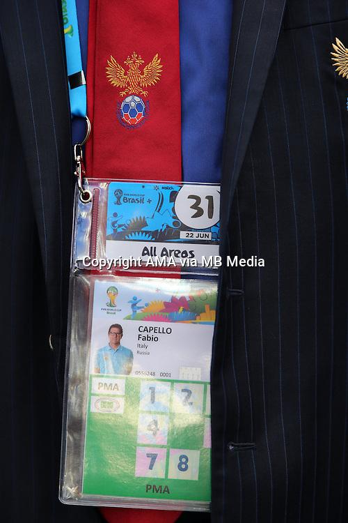 The FIFA accreditation of Russia head coach / manager Fabio Capello