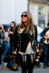 Street style, Anna Dello Russo arriving at Stella McCartney Spring Summer 2017 show held at Opera Garnier, in Paris, France, on October 3, 2016. Photo by Marie-Paola Bertrand-Hillion/ABACAPRESS.COM
