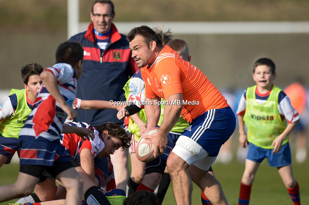 Nicolas Mas - 11.03.2015 - Rugby -Entrainement France -Marcoussis<br />Photo : Andre Ferreira / Icon Sport
