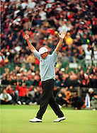 PAUL LAWRIE WIINS THE OPEN CHAMPIONSHIP TROPHY 1999<br />AFTER PLAYOFF<br /><br />AT CARNOUSTIE, SCOTLAND<br /><br />ON 18TH JULY 1999