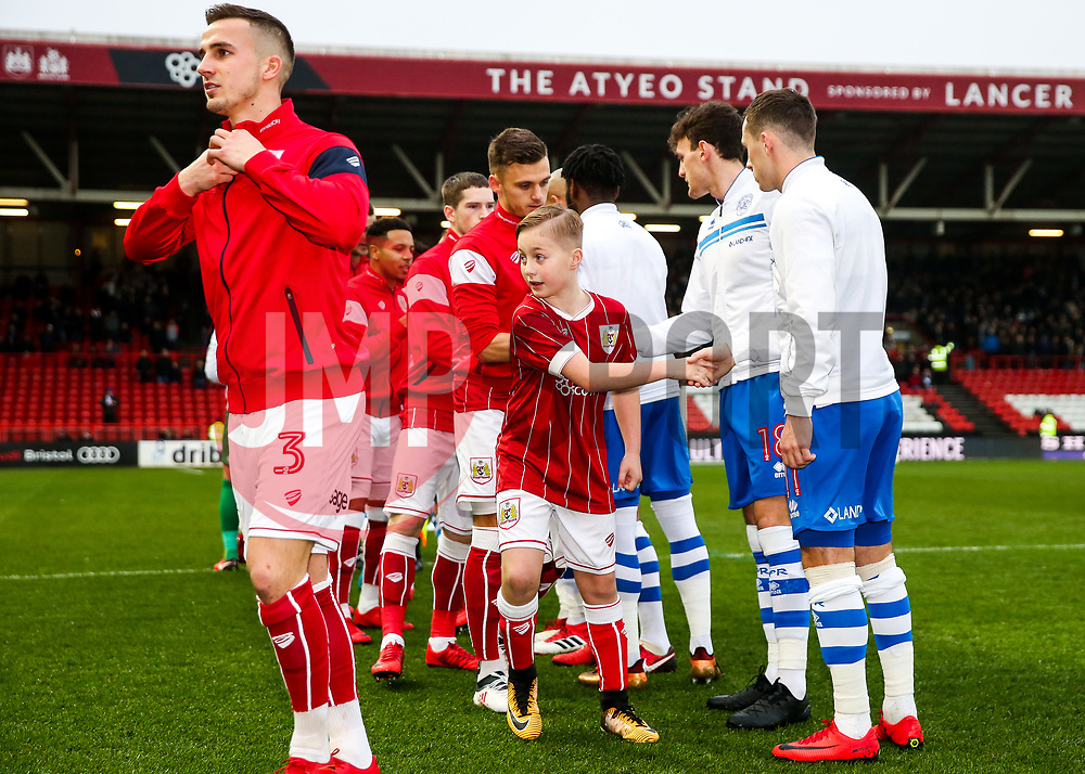 Mascot looks on as Bristol City greet Queens Park Rangers before kick off - Rogan/JMP - 27/01/2018 - Ashton Gate Stadium - Bristol, England - Bristol City v Queens Park Rangers - Sky Bet Championship.