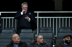 Comedian Jim Davidson in the stands before kick off of the Sky Bet League One match at Stadium MK, Milton Keynes .