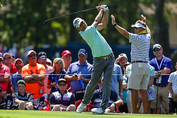 August 10, 2018 - St. Louis, MO, U.S. - ST. LOUIS, MO - AUGUST 10:  Kevin Kisner (USA) plays his shot from the seventh tee during Round 2 of the PGA Championship August 10, 2018, at Bellerive Country Club in St. Louis, MO.  (Photo by Tim Spyers/Icon Sportswire) (Credit Image: © Tim Spyers/Icon SMI via ZUMA Press)