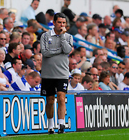 Photo: Leigh Quinnell.<br /> Queens Park Rangers v Southampton. Coca Cola Championship. 01/09/2007. QPR manager John Gregory unhappy with the result.
