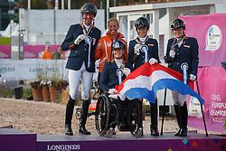 Team Netherlands, Hosmar Frank, Heutink Joice, Den Dulk Nicole , Krijnsen Lotte, Voets Sanne, <br /> FEI European Para Dressage Championships - Goteborg 2017 <br /> &copy; Hippo Foto - Dirk Caremans<br /> 22/08/2017,
