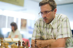 Igor Jelen in action during the Slovenian National Chess Championships in Ljubljana on August 9, 2010.  (Photo by Vid Ponikvar / Sportida)