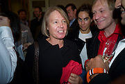MARY MOORE; JAMES PUTNAM, Henry Moore Exhibition. Hauser and Wirth. 15 Old Bond St. and afterwards dinner at the Burlington arcade. 14 October 2008 *** Local Caption *** -DO NOT ARCHIVE -Copyright Photograph by Dafydd Jones. 248 Clapham Rd. London SW9 0PZ. Tel 0207 820 0771. www.dafjones.com
