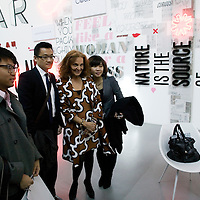 Beijing, April,2, 2011 : Diane von Furstenberg  and Chinese admirers get their picture taken.