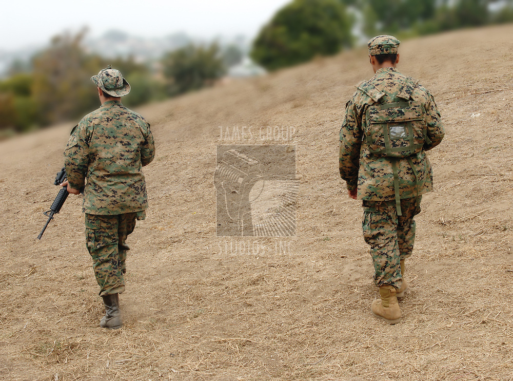 Two US Marines on patrol