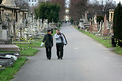UK ENGLAND LONDON 27JAN06 - Brompton Cemetery in Kensington, west London. Designed by Benjamin Baud, the cemetery has a formal layout with listed buildings, monuments of great historic interest and a chapel, based on St. Peter's Basilica in Rome, situated in the middle. ..jre/Photo by Jiri Rezac..© Jiri Rezac 2006..Contact: +44 (0) 7050 110 417.Mobile:  +44 (0) 7801 337 683.Office:  +44 (0) 20 8968 9635..Email:   jiri@jirirezac.com.Web:     www.jirirezac.com..© All images Jiri Rezac 2006 - All rights reserved.