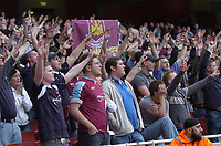Photo: Olly Greenwood.<br />Arsenal v West Ham United. The Barclays Premiership. 07/04/2007. West Ham fans celebrate winning which boosts their hopes of staying up