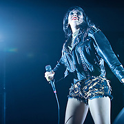 WASHINGTON, DC - May 10th, 2012 - Alexis Krauss of indie-rock duo Sleigh Bells performs at the Verizon Center in Washington, D.C. (Photo by Kyle Gustafson)