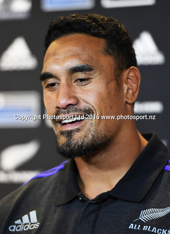 Jerome Kaino during an All Blacks press conference in Hamilton ahead of the The Rugby Championship test match against Argentina. Thursday 8 September 2016. © Copyright Photo: Andrew Cornaga / www.Photosport.nz