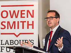 Owen Smith MP, the Labour party leadership candidate, speaking at the University of Salford, Manchester<br /> <br /> (c) John Baguley | Edinburgh Elite media