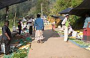 Fruit and vegetable market, Haputale, Badulla District, Uva Province, Sri Lanka, Asia