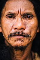 A portrait of Ruben Enaje, who has been playing the role of Jesus Christ during the Holy Week festival in Cutud since 1985. Every year, Ruben nails himself to a cross to atone for his sins and ask God for blessings in the years to come.