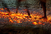 Udappuwa Festival. The firewalking on the last night of the annual festival..July 2012