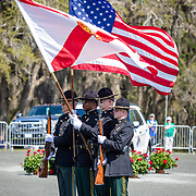 Leon County Sherriff department Honor Guard at the Red Hills International Horse Trials in Tallahassee, Florida.