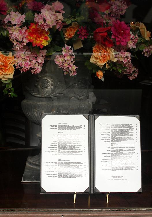 Bellini's, Lexington, Ky.:That menu in the window.