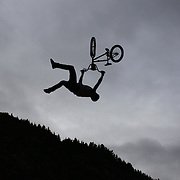 TJ Ellis, USA, in action during the 'Red Bull Roast It' BMX competition with riders from around the globe competing at the Gorge Road Jump Park, Queenstown, South Island, New Zealand. 18th February 2012. Photo Tim Clayton