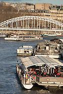 Paris, The Seine river view from Iena bridge