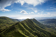 Aerial, ridges, Valley,Honolulu, Oahu, Hawaii