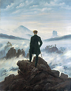 Caspar David Freidrich 1774 – 1840,German romantic artist. 'Wanderer Above the Mist' 1818