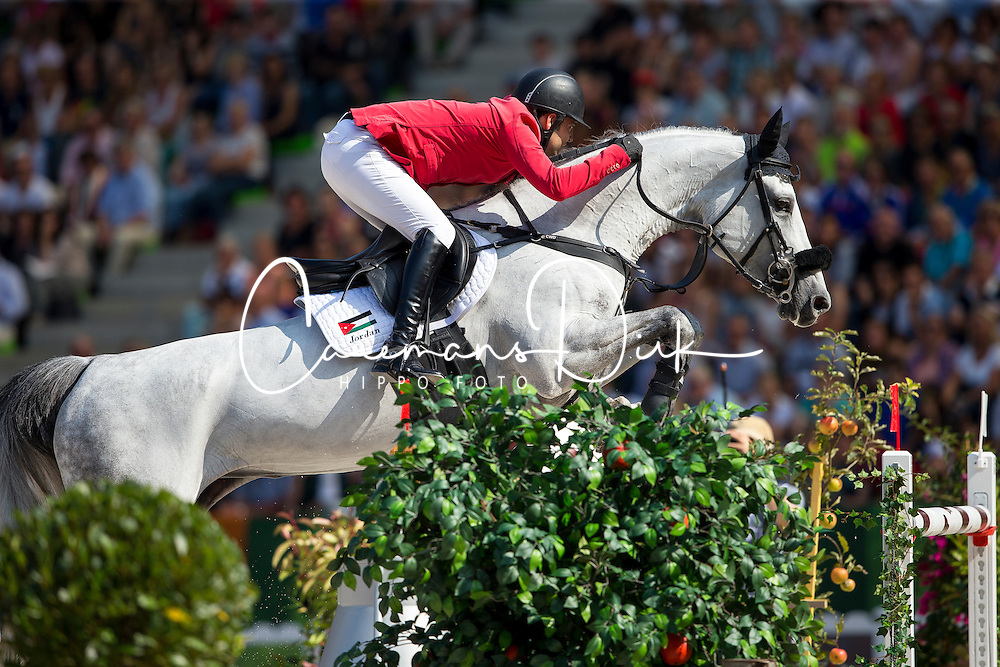 Ibrahim Bisharat, (JOR), Emmanuel - World Champions, - Second Round Team Competition - Alltech FEI World Equestrian Games™ 2014 - Normandy, France.<br /> © Hippo Foto Team - Leanjo De Koster<br /> 25/06/14