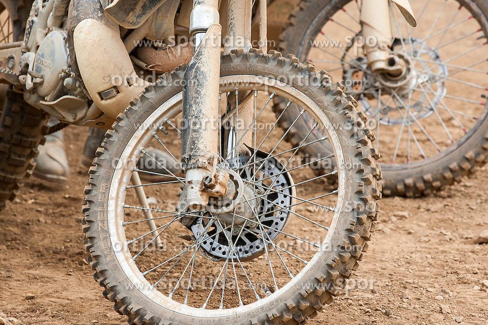 08.06.2012, Erzberg, Eisenerz, AUT, Erzbergrodeo 2012, Iron Road Prolog, im Bild Vorderreifen einer Motocross, EXPA Pictures © 2012, PhotoCredit: EXPA/ M. Kuhnke