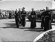Sean T O'Ceallaigh arriving for the Dedication of the New Franciscan Church at Rossnowlagh, Co. Donegal..29/06/1952