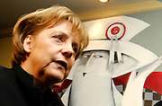 Germany's Federal Chancellor Angela Merkel  arrives for a European People's Party (EPP) meeting, the largest transnational continental political party, on the sidelines of a European Summit on March 13, 2008 in Brussels.  [© by Wiktor Dabkowski] ....
