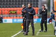Forest Green Rovers manager, Mark Cooper during the EFL Sky Bet League 2 match between Barnet and Forest Green Rovers at The Hive Stadium, London, England on 7 April 2018. Picture by Shane Healey.