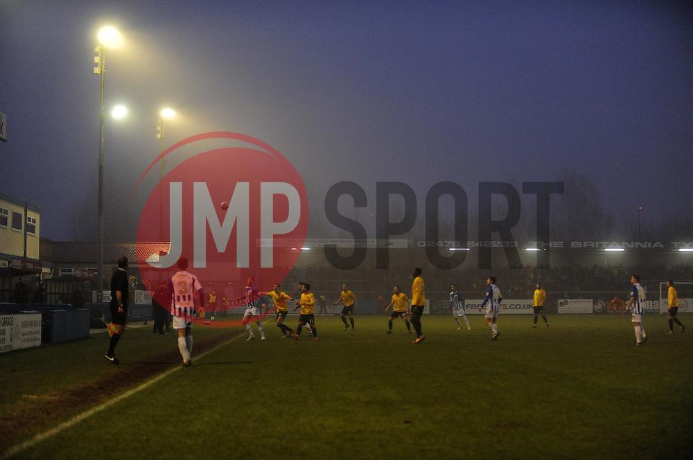 A gloomy James Parnell Stadium, home of Nuneaton - Photo mandatory by-line: Neil Brookman/JMP - Mobile: 07966 386802 - 04/01/2015 - SPORT - football - Nuneaton - James Parnell Stadium - Nuneaton Town v Bristol Rovers - Vanarama Conference