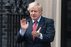 © Licensed to London News Pictures. 07/05/2020. London, UK. Prime Minister Boris Johnson takes part in the Clap for our Carers showing support for the NHS. Photo credit: London News Pictures