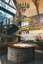 THEMENBILD - verschiedene Whiskey Flaschen im Verkaufsraum der Glenlivet Whiskey Destillerie bei Ballindalloch, Schottland, aufgenommen am 08. Juni 2015 // different whiskey bottles at the Glenlivet whiskey distillery salesroom near Ballindalloch, Scotland on 2015/06/08. EXPA Pictures © 2015, PhotoCredit: EXPA/ JFK