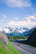 Alaska. Kenai Peninsula. Seward highway at Canyon Creek.