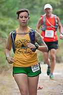 Kerhonkson, New York - Nicole Gibeau runs through Minnewaska State Park Preserve during the Shawangunk Ridge Trail Run/Hike 20-mile race on Sept. 20, 2014.