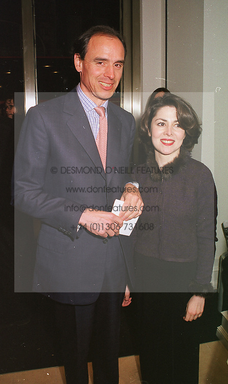 MR JAMES GILBEY, a friend of the late Diana, Princess of Wales and MISS SHARON SILVER, at a party in London on 23rd February 1999.MOO 66