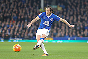 Everton defender Leighton Barnes  during the Barclays Premier League match between Everton and Tottenham Hotspur at Goodison Park, Liverpool, England on 3 January 2016. Photo by Simon Davies.
