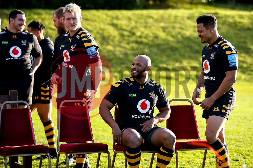 Nizaam Carr and Juan De Jongh of Wasps - Mandatory by-line: Robbie Stephenson/JMP - 18/11/2019 - RUGBY - Broadstreet Rugby Football Club - Coventry , Warwickshire - Wasps Squad Photo