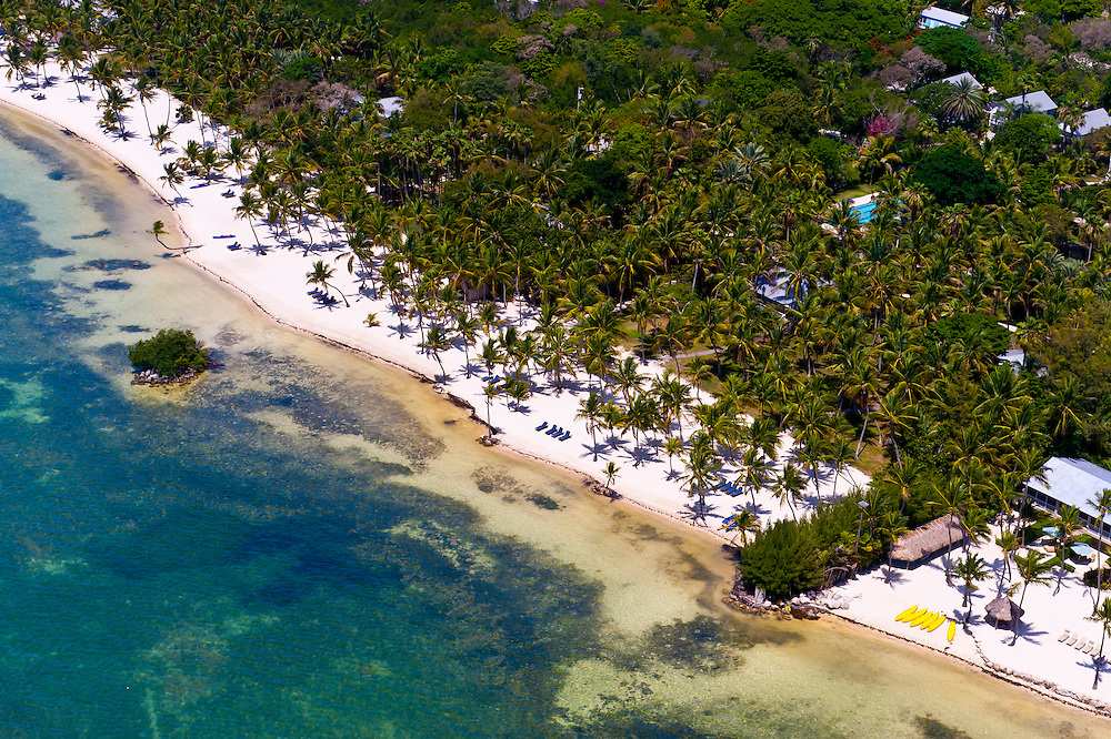Aerial View, Beaches, Islamorada Key, Florida Keys, Florida USA